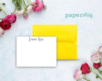 Personalized Stationery, Personalized stationary,  Monogram stationery, Monogram Note Cards, Personalized Notecards, FLAT CARDS,