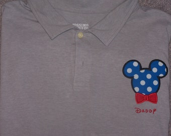 Bow Tie Mickey Mouse Applique Shirt bowtie