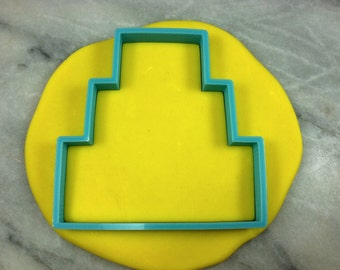 Wedding Cake Cookie Cutter Tier 3 Outline - SHARP EDGES - FAST Shipping - Choose Your Own Size!