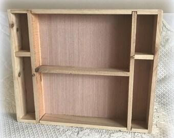 Handmade Wooden Curio Shelf