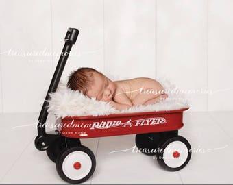 digital  wagon background, digital  wagon prop for newborn boy or girl