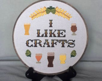 PDF Pattern - I Like Crafts - Cross Stitch