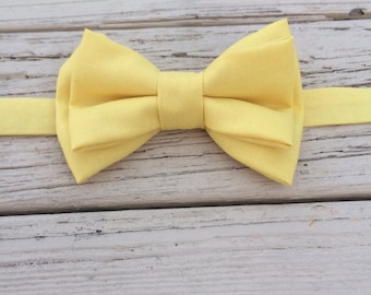Double Bow Bow Tie, Kids Bow Tie, Yellow Bow Tie, Yellow Baby Bow Tie, Kids Bow Tie, Adjustable Bow Tie