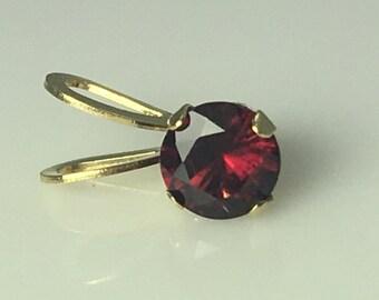 Anthill Garnet Gold Pendant