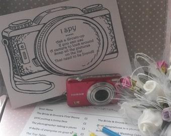 Wedding I Spy Cards, Wedding activity for children, 12 pack, kids wedding pack, kids activity pack, kids wedding favours, Wedding table game