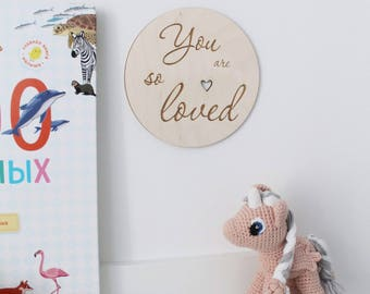 Stylish Scandinavian wooden wall decor for home, nursery, for office, newborn, pregnant, photography