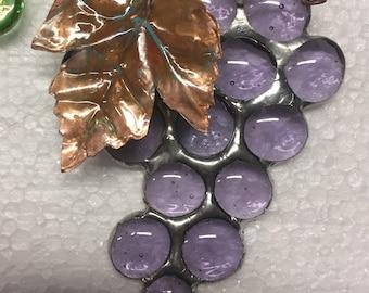 Purple Glass Grape Cluster Suncatcher sun catcher