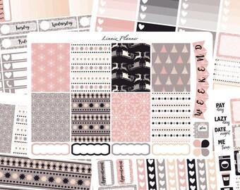 Soft Winter Weekly Kit or Al a Carte (matte planner sticker, fits perfect in Erin Condren Life Planner Vertical)