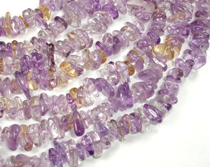 Ametrine, Approx 4mm-10mm Pebble Chips Beads, 16 Inch, Full strand, Hole 0.8mm, A+ quality (116005002)