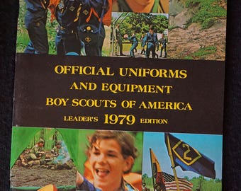 Vintage Boy Scout Official Uniform and Equipment Catalog 1979 Leaders Edition  Boy Scouts of America