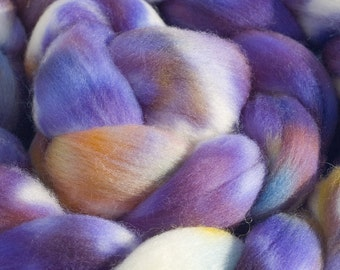 Hand Dyed Merino Wool Combed Top, 4oz, in Munstead Lavender