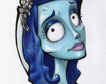 Corpse Bride Emily Head-Shot Marker Artwork