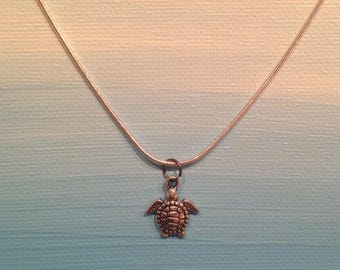 Silver Turtle Necklace