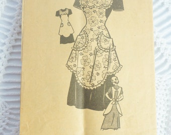 Vintage Mail Order Sewing Pattern 4654- Ladies Apron Size Medium Bust 34-36