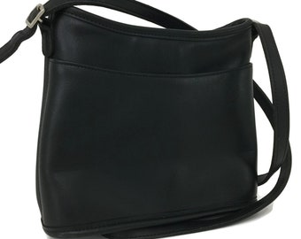 Vintage Coach Cross Body Bag Black Leather Mambo Made in United States