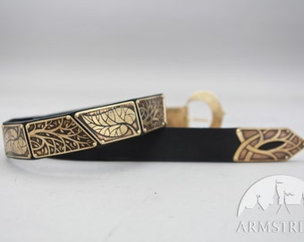 "Elven Belt with Leaves ""Knight of the West"""