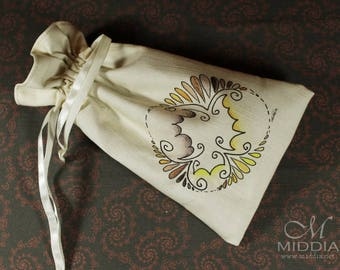 Tarot Bag Mandala 3 - runes dice crystals cards