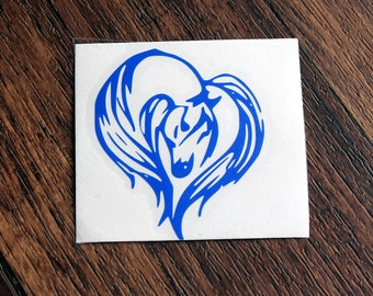 Horse Decal | Horse Heart Decal | Horse Head Decal | Equine Decal | Equestrian Decal