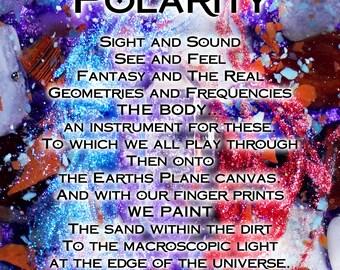 Poetry Print - Polarity - Meditation Tool - Altar Card