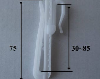 Plastic insert adjustable height 30 ~ 85mm