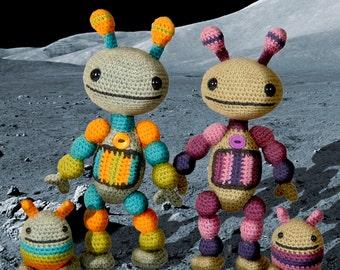 Nut and Bolt Robots - Amigurumi Crochet Pattern