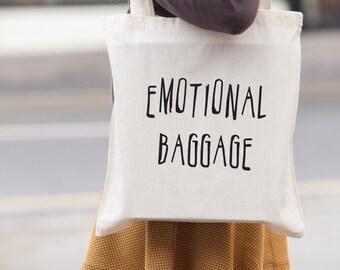 Emotivo bagagli tote bag - schermo stampato tela tote borsa shopping - borsa a tracolla - beach tote - tela tote bag