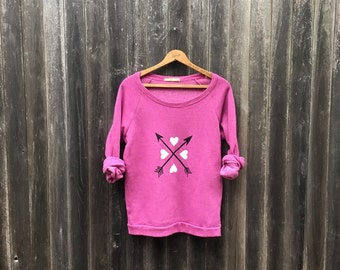 SALE Heart Sweater, Size Small