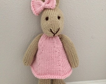 Stuffed Animal - Knitted Bunny - Handmade Toy - Stuffed Bunny - Soft Toy