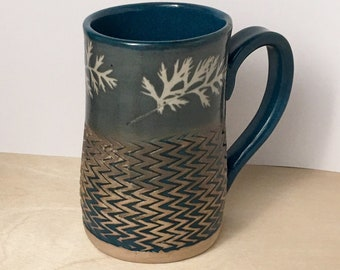 Handmade mug, large mug, coffee mug