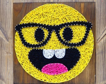 Smarty pants emoji string art kit, string art kit for adults and kids, quality tools included, step by step string art DIY kit