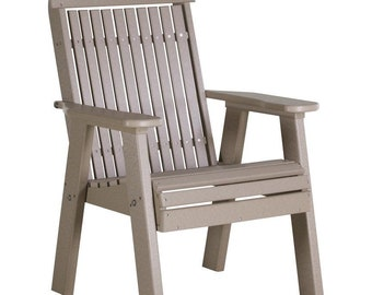 LuxCraft 2' Classic Highback Recycled Plastic Chair