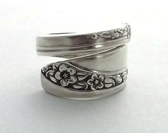 Spoon Ring Queen Mary Starlight Rose 1953 size 7 8 9 10 11 12 13