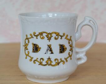 Vintage Dad Mustache Mug with Fancy Handle