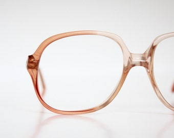 Vintage French Warm Peach Eyeglasses Sunglasses Frames