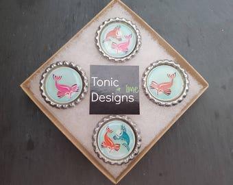 Koi Magnet Set, Zen Style Magnets, Tattoo Parlor, Fish Magnets,  Colorful Koi, Hostess Gift, Locker Decoration, Office Magnets, Nishikigoi