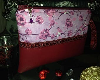 Chic clutch or makeup bag, toilet.
