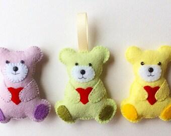 Teddy Bear Feltie PDF Sewing Pattern