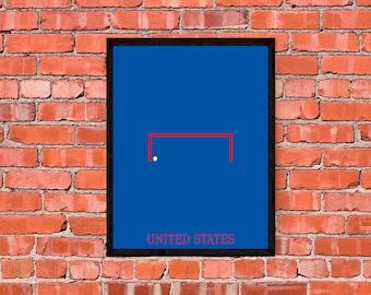 United States Soccer Poster - Print - Art - Decor - Minimalist - USMNT - USWNT