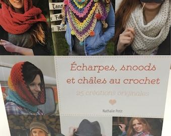 Book snood crochet women shawl