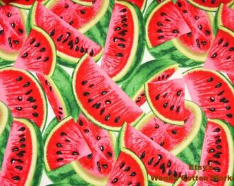 Watermelon - Cotton Fabric  - 1 Yard - more for one cut - B8B10