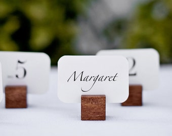 Wooden Square Name Card Holders (Set of 6)