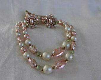 Japan Pink Pearl Earring and Necklace Set