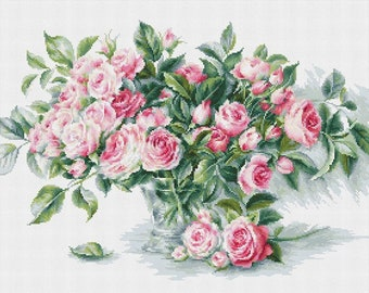 Bouquet of Pink Roses SB2286 - Cross Stitch Kit by Luca-s