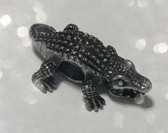 Alligator Big Hole Charm Bead Spacer for Big Hole Jewelry