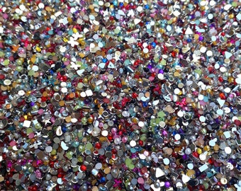 Set about 150000 rhinestones 2mm - colors and mixed shapes