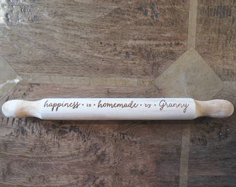 Personalised Happiness is Homemade Rolling Pin