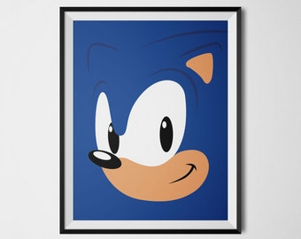Sonic the Hedgehog, Video Game Poster, Sonic, Sega, Video Game Decor, Playstation, Sega Master System, Video Game Art, Sonic Wall Print