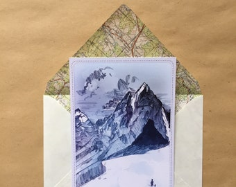 Explore-adventurer postcard with envelope