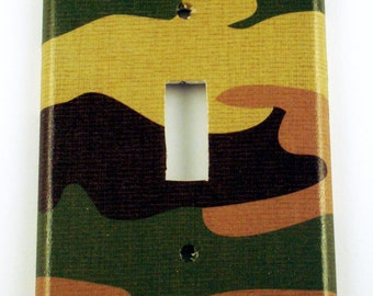 Light Switch Cover Wall Decor Switchplate  Single Switch Plate in  Camo (271)
