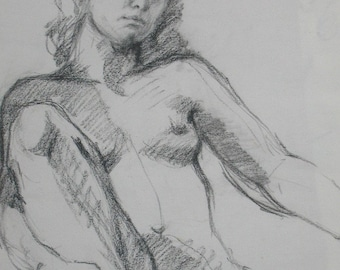 Female Nude GICLEE ART PRINT 11 x 17 female portrait figurative art